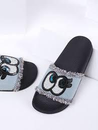 light blue womens dress shoes light blue eye detail denim flat slippers flat shoe madness