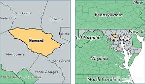 maryland map by county outline howard county maryland map of howard county md where is