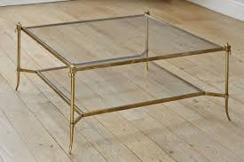 brass and glass end tables a square patinated brass and glass coffee table pinteres