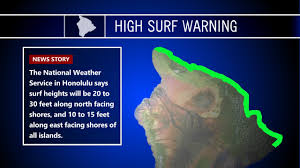 high surf warning arrives for thanksgiving in hawaii