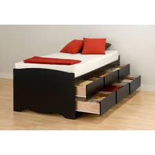 Full Size Captains Bed With Drawers Prepac Sonoma Twin Wood Storage Bed Bbt 4106 K The Home Depot