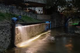 waller creek light show 2015 creek show