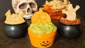 Vegetarian Halloween Appetizers by Halloween Tortilla Chip Trio Recipe Cooking With Janica