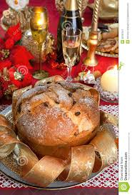panettone traditional italian christmas cake royalty free stock