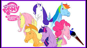 my little pony realistic horses mlp mane 6 coloring book