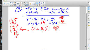 pre calculus completing the square worksheet youtube