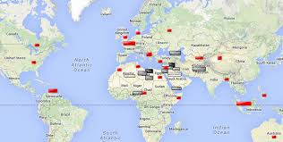 Map Of Islam Around The World by At War Against A Global Islamic State From The Philippines And