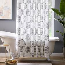 Gray And Brown Shower Curtain - whale grey and white shower curtain