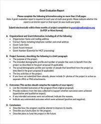 grant report template 6 grant report templates free word pdf format free