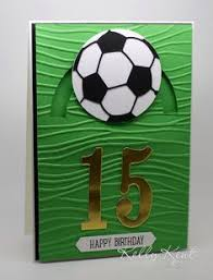 soccer ball birthday card verse by art impressions my cards and