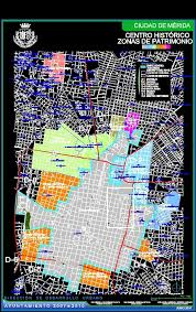 Merida Mexico Map by Map Merida Historical Center Yucutan Mexico Dwg Plan For Autocad
