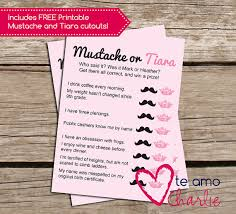 who said it bridal shower who said it personalized printable bridal shower mustache