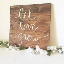 home decor family signs wood sign wooden sign let grow sign sign family sign