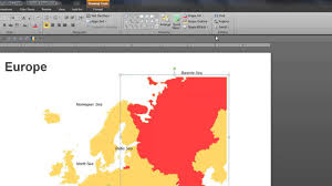 powerpoint map of europe how to color different countries using
