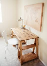Sawhorse Trestle Desk Ana White Sawhorse Desk Diy Projects