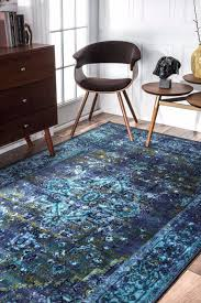 Area Rugs In Blue by Nuloom Persian Overdyed Vintage Traditional Distressed Area Rug In