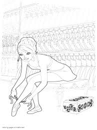 barbie in the pink shoes coloring pages for girls