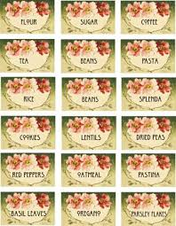 labels for kitchen canisters catherine klein deco style kitchen canister labels printable