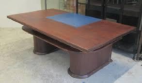 table bureau bois bureau bois dessus cuir bleu et table idf 94 92 asmb