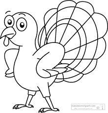 animals clipart thanksgiving turkey black white outline clipart