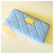 michael kors light blue wallet michael kors bags baby blue leather quilted wallet poshmark