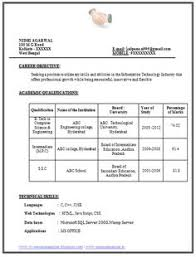 Best Resume Format For Freshers by Best Resume Format Download For Computer Engineers Sample