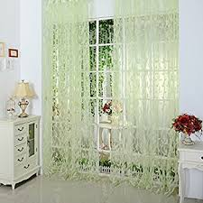 Curtains And Drapes Amazon Amazon Com Norbi Willow Voile Tulle Room Window Curtain Sheer