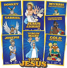 Christmas Party Games For Large Groups Of Adults - santa vs jesus the epic christmas party card game for families