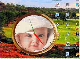 ساعة رائعة تزين سطح مكتبك..يمكنك جعل صورتك خلفية لها