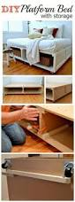 Platform Bed With Storage Tutorial Diy Platform Bed Platform by 15 Brilliant Diy Bed Storage Solutions To Save More Space