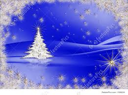 christmas tree with stars on blue background