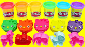 learn colors play doh kitty peppa pig english episodes
