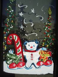 Thanksgiving Window Paintings Christmas Window Painting Memphis Sign Company 1 850 428 0163