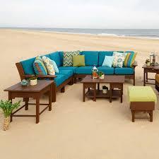 Sectional Patio Furniture Sets - poly outdoor van buren deep seating sectional