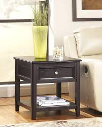 Black Console Table With Drawers Black End Table With Drawer 1 Drawer Oval Wood Shelf Accent End