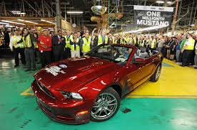 mustangs the rock ford celebrates one millionth mustang built at flat rock assembly
