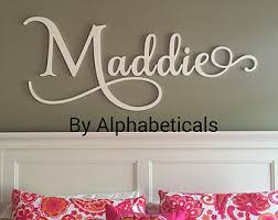 Letter Wall Decals For Nursery Baby Room Letters Baby Room Sign Baby Room Wall Décor Wooden