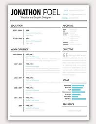 free minimalist resume designs fun resume templates europe tripsleep co