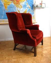 Fun Armchairs Red Velvet Wingback Club Chair Classic This What I Want In