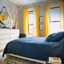 blue yellow bedroom light gray walls robin s egg blue bedding bright yellow curtains