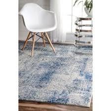 Overstock Com Large Area Rugs Nuloom Modern Abstract Vintage Blue Area Rug 5 U0027 X 7 U00275