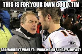 Bill Belichick Memes - bill belichick reveals true reason he cut tim tebow