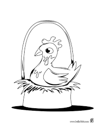 incubating chicken eggs coloring pages hellokids com