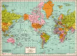 World Map Art Print by Large Antique Map Of The World Map Art Print Of Old Map A5
