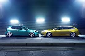 volkswagen golf 6 gti audi a6 canibeat green low stance