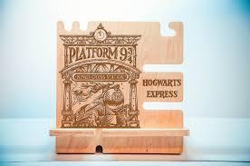harry potter wooden desk organizer docking stand phone dock