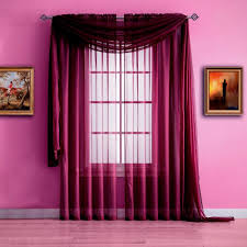 Red Scarf Valance Warm Home Designs Plum Window Scarf Valance Sheer Plum Curtains