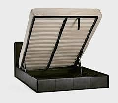 black 6ft super king size storage ottoman gas lift up bed frame