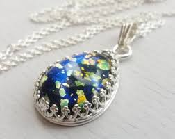opal necklace setting images Black opal necklace etsy jpg