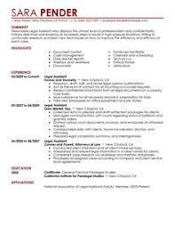 Secretarial Resume Template Legal Resumes Legal Secretary Resume Sample Law Pinterest
